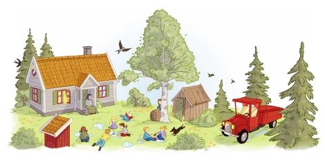 """Fra """"Mormor og de åtte ungene i skogen"""""""