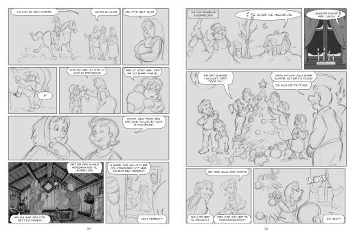2) Storyboard med riktig utsnitt og tekst.